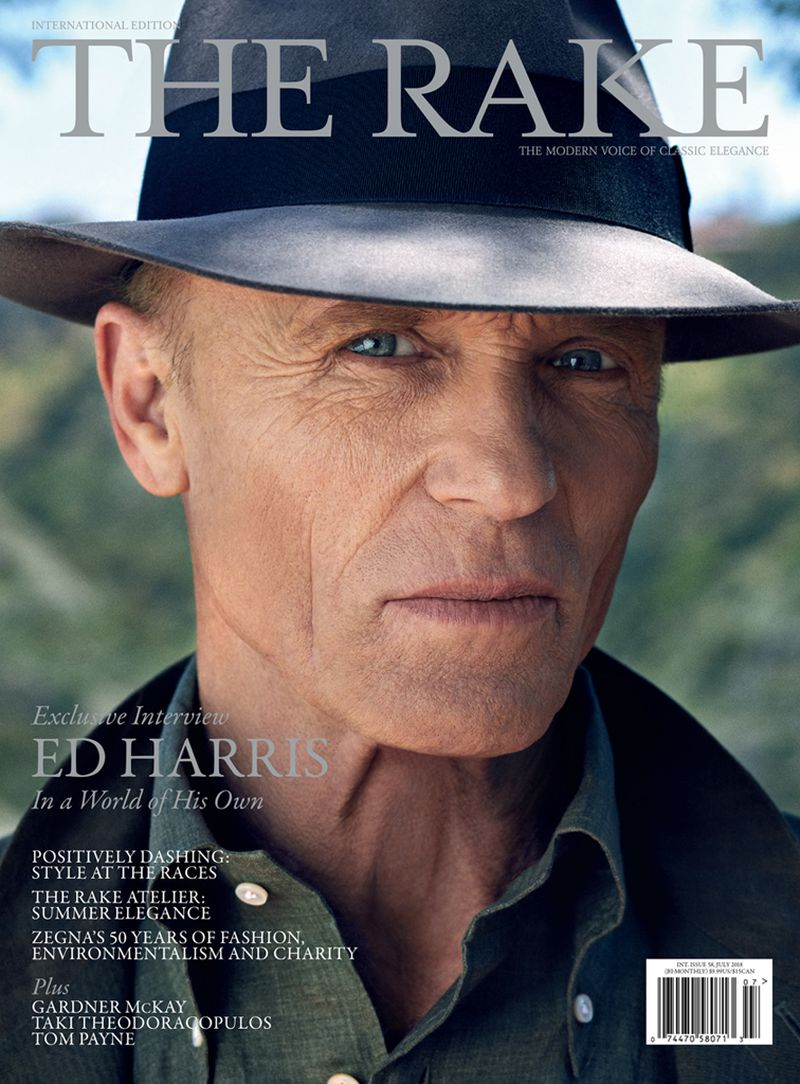 瑞克2018年7月封面与艾德·哈里斯The Rake July 2018 Cover with Ed Harris
