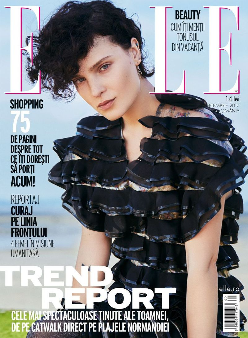 她罗马尼亚September 2017年版Elle Romania September 2017 Cover